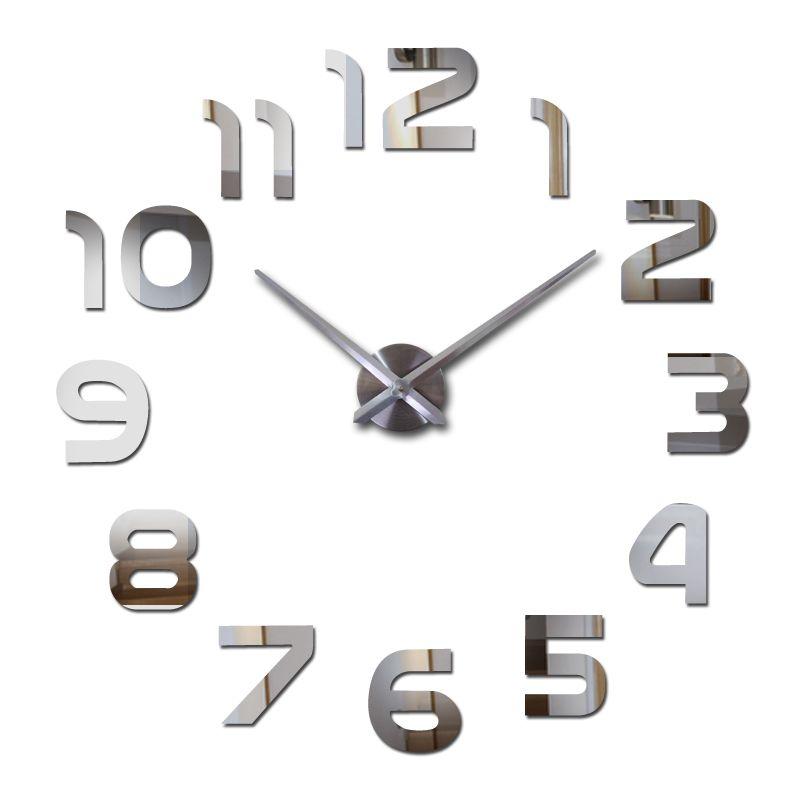 Haut à la mode 3d horloge murale reloj de quartz montre moderne bricolage horloges salon grande horloge murale décorative autocollants
