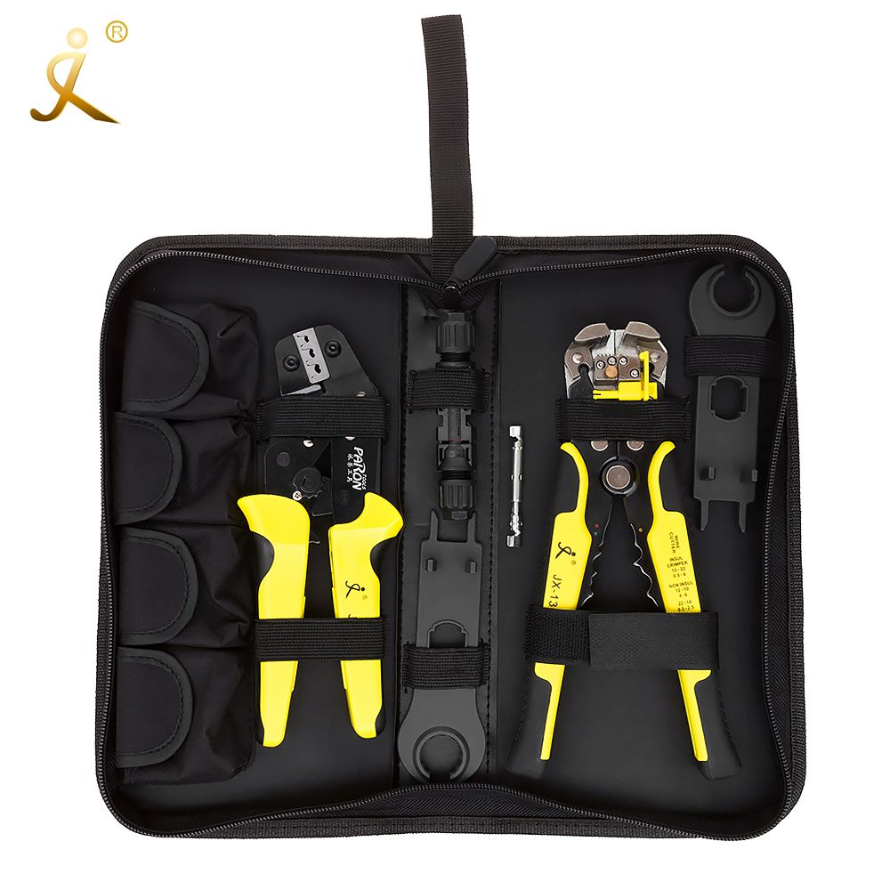 MC4 Solar Panel multitool Crimping Tools 2.5-6mm2 14-10AWG Wire Crimper Wire Connector Cut Kit + Wire Stripper Crimping Pliers