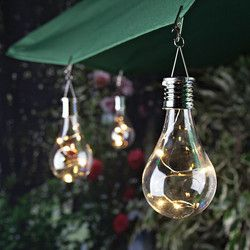 Home Solar Light Bulb Waterproof Solar Rotatable Outdoor Garden Camping Hanging LED Lamp with light control Decoration Light