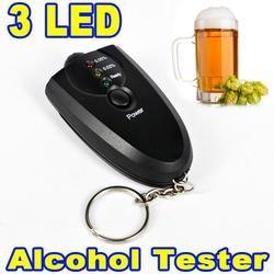 Portable Porte-clés Rouge Lumière LED lampe de Poche Alcool Testeur D'haleine Alcootest Mini Professionnel Porte-Clé Alcool Mètre Analyseur