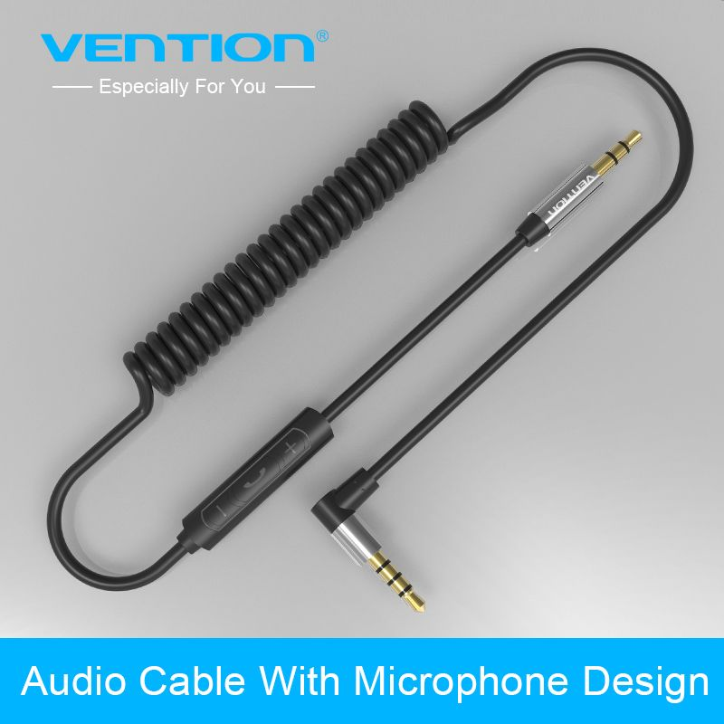 Vention 3.5mm jack audio cable 3.5mm male to male 90 degree right angle flat aux cable for car / PM4 PM3 / headphone aux cord