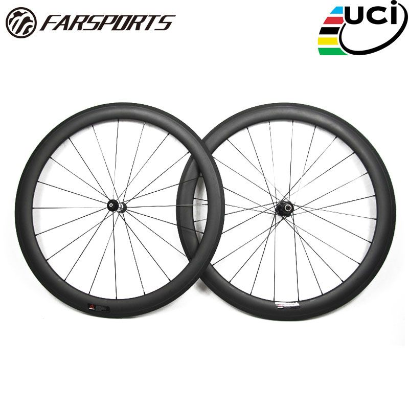 Farsports FSC50-TM-25 DT350 hub 25mm wide strong U shape road carbon tubular 700c wheelset 50mm, bike bicycle carbon wehels rims