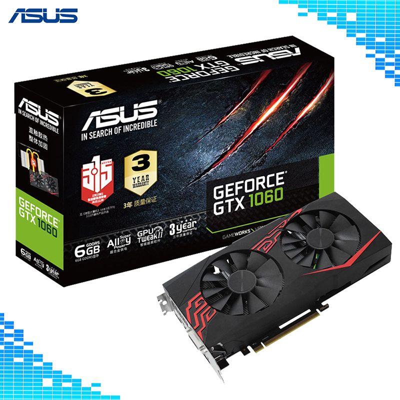 Asus GTX 1060-O6G-GAMING Mainstream ebene Desktop Grafikkarten GDDR5 PCI Express 3,0 NVIDIA GeForce GTX 1060 6g Grafiken