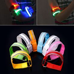 Reflective LED Light Armband Arm Strap Safety Belt For Night Cycling Running