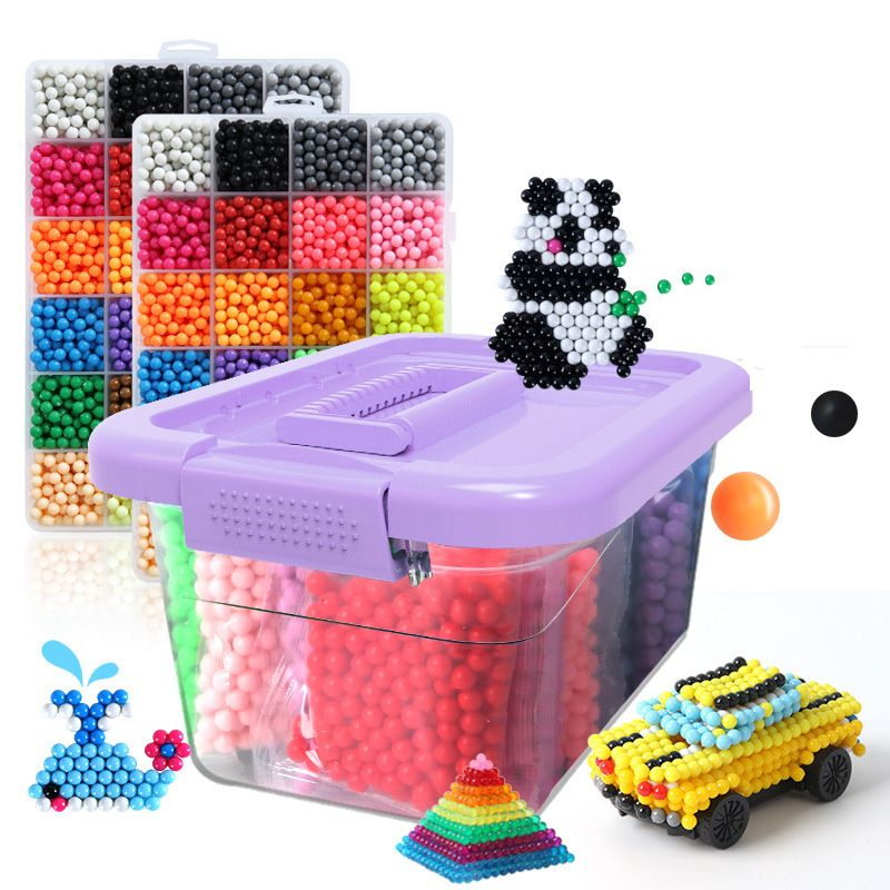 DIY Magic qua Animal Molds Hand Making 3D Beads Puzzle New Kids Educational qua Toys for Children Spell Replenish Beans