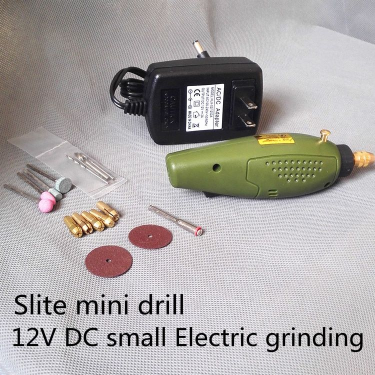 Slite Mini perceuse Électrique accessoires Électrique Ensemble De Broyage 12 V DC Grinder Outil pour Fraisage Forage Polissage Gravure