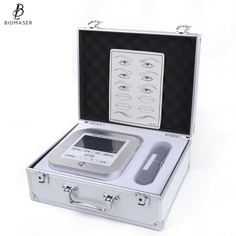 Biomaser New Permanent Makeup Machine Eyebrow Tattoo Professional Digital Device Machine Eyebrow Lip Pen Machine Sets CTD003