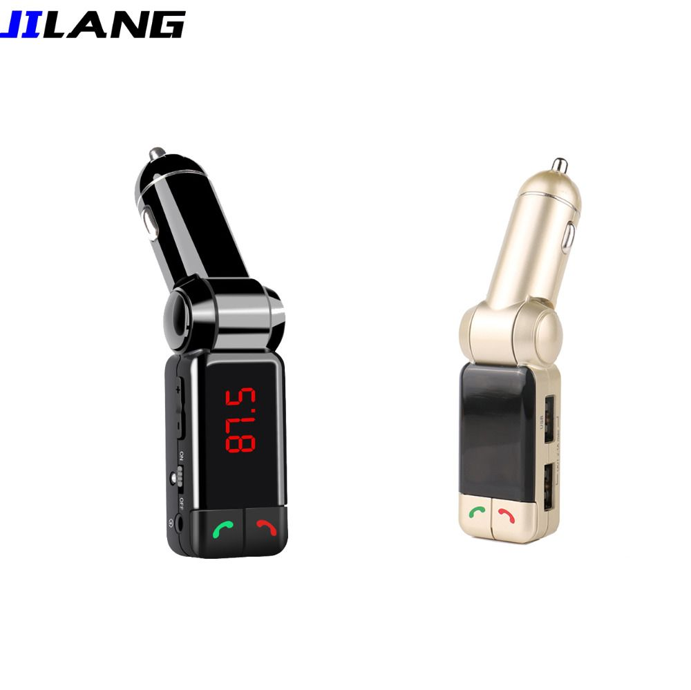 FM Transmitter BC06B LCD Bluetooth Car Kit MP3 SD USB Charger Handsfree for iPhone 5 5S 6 Mp3 Player Aux Input All in Hands Free