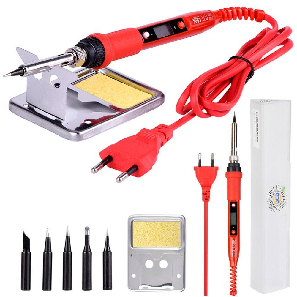 Fer à souder électrique JCD 220V 80W LCD 908S fer à souder à température réglable avec embouts et kits de fer à souder de qualité