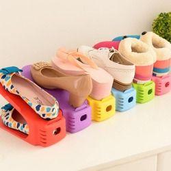 1 PC Boutique Affichage Chaussures Rack Ménage Espace-Économie En Plastique Rack De Stockage Multicolore Organisateurs Drop Shipping