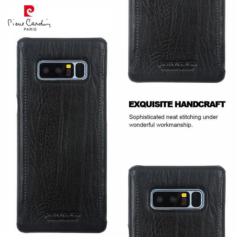 For Samsung Galaxy Note 8 Case Original Pierre Cardin Genuine Leather Case For Samsung Galaxy Note 8 Cover Luxury Hard Case Capa