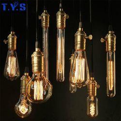 Ampoule Vintage Edison Ampoule E27 220 V 40 W Lampe Bases G80 G125 ST64 G95 Décor Rétro Filament De Tungstène Luminaire Éclairage Ampoule lumière
