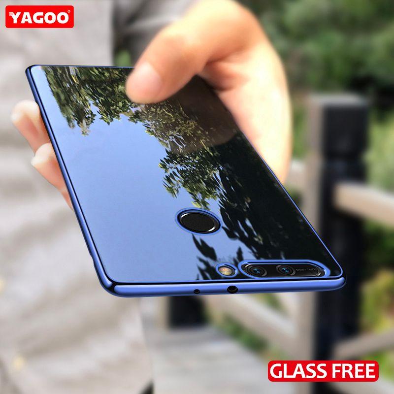 Для Huawei Honor 8 Pro случай роскошь силиконовой ТПУ Мягкая задняя крышка для Honor 8 Pro Чехол экран фильма синий золотой 8pro оригинальный yagoo