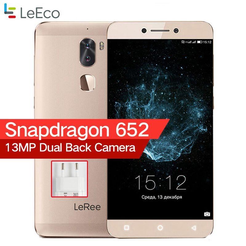 LeEco Letv LeRee Le 3 Cool 1 Le3 3G RAM 32G ROM 4000mAh Snapdragon 652 Octa Core Android 6.0 Fingerprint Dual Camera Cellphone