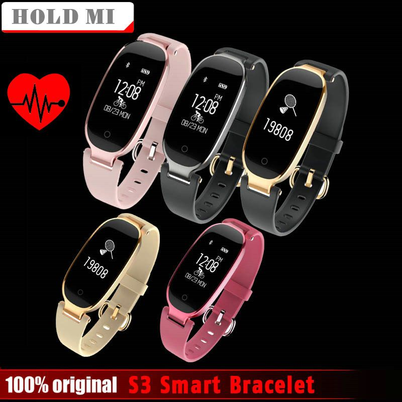 Hold Mi S3 Fashion Smart Band Bracelet Girl Women Heart Rate Monitor Wrist Smartband Lady Female Fitness Tracker Wristband