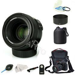 YONGNUO YN 50mm YN 50N f/1,8 lente AF YN50mm Apertura de enfoque automático gran apertura para Nikon Canon DSLR Cámara como AF-S 50mm 1,8G