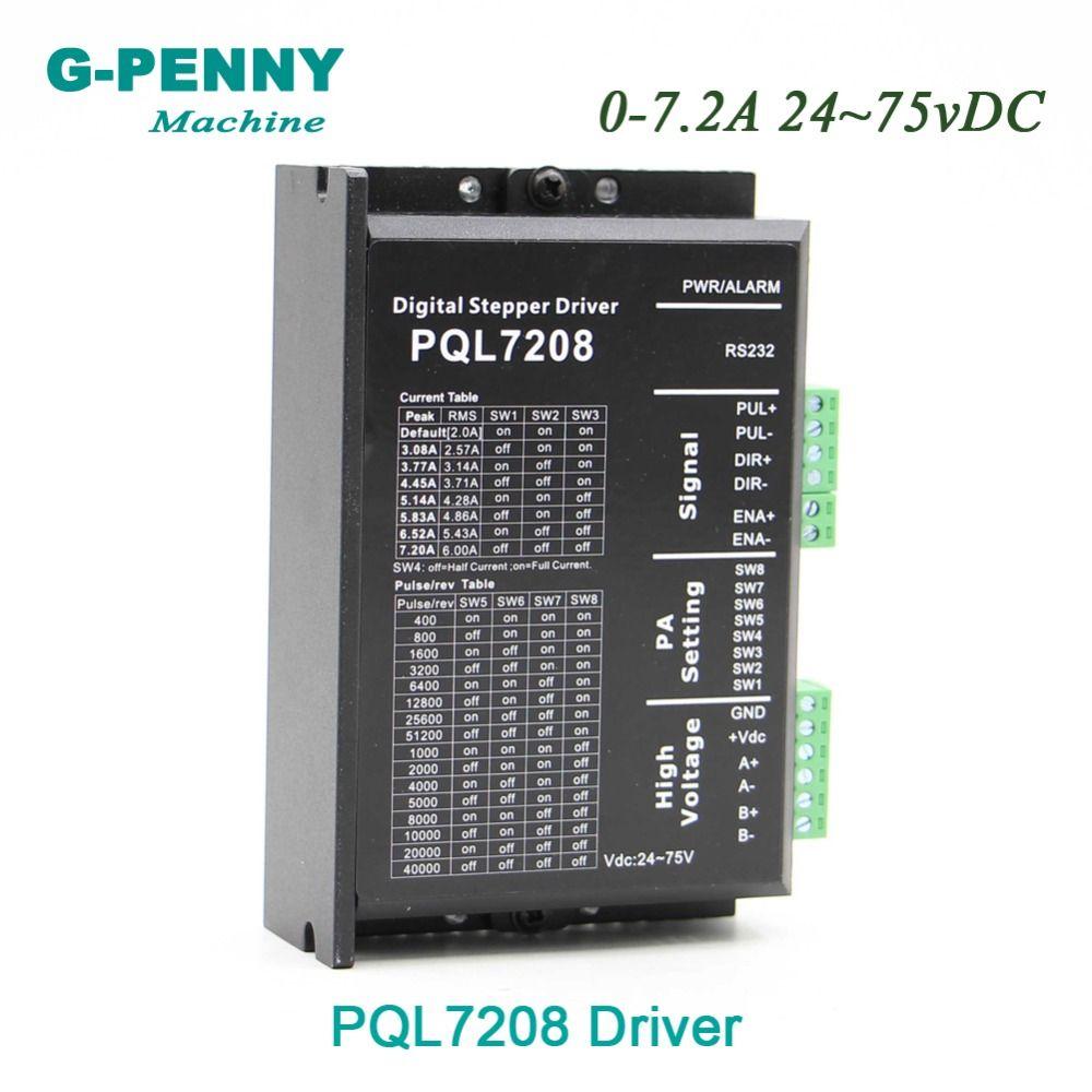 Neue Ankunft! NEMA23 NEMA34 schrittmotor Fahrer PQL7208 0-7.2A 24 ~ 75vDC anstelle von MA860H für schrittmotor fahrer CNC maschine