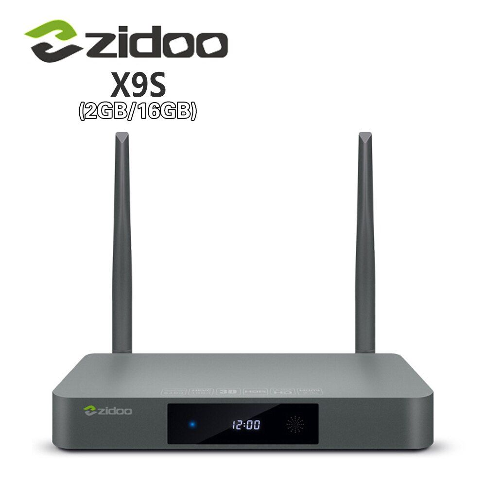 Genuine Zidoo X9S Smart TV BOX Android 6.0 +OpenWRT(NAS) Realtek RTD1295 2G/16G 802.11ac WIFI Bluetooth 1000M LAN Media Player