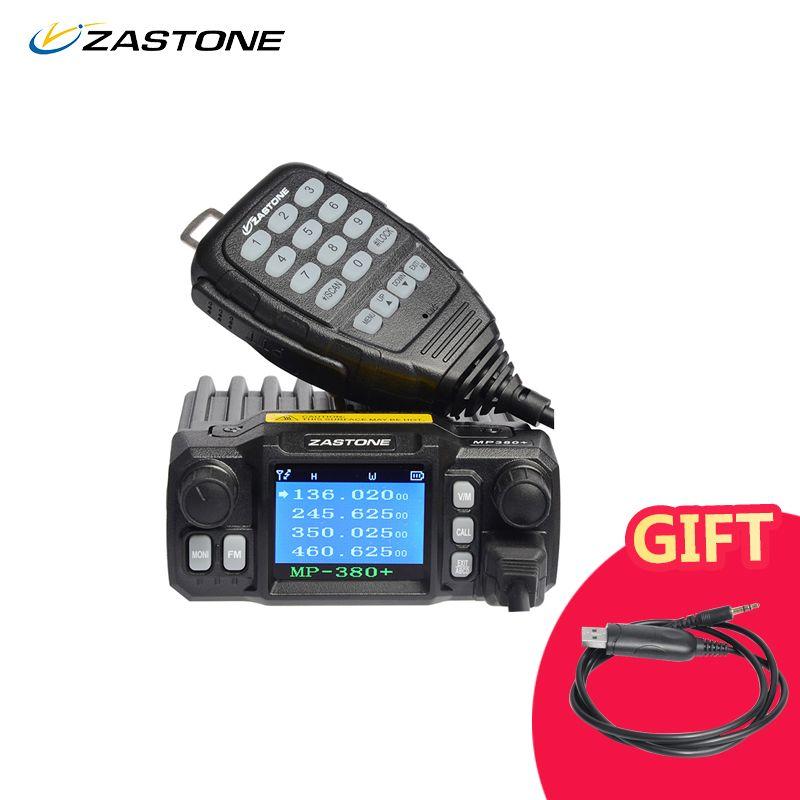 Zastone MP380+ Mini Mobile Radio Car Transceiver VHF UHF 25W Dual bands Quad-standby 200CH Walkie Talkie Car Radio Station
