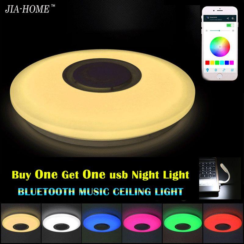 Musik Led-deckenleuchte mit Bluetooth steuer Farbwechsel Beleuchtung unterputz lampe für schlafzimmer deckenleuchten