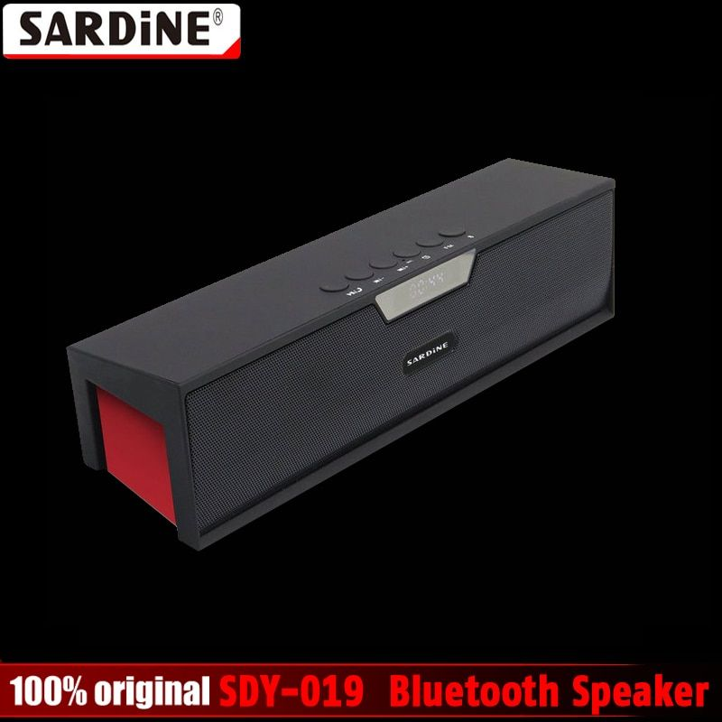 100% Original Sardine SDY-019 Altavoz Bluetooth Speaker Wireless HIFI Portable Subwoofer Speakers Music Sound Box with FM Radio