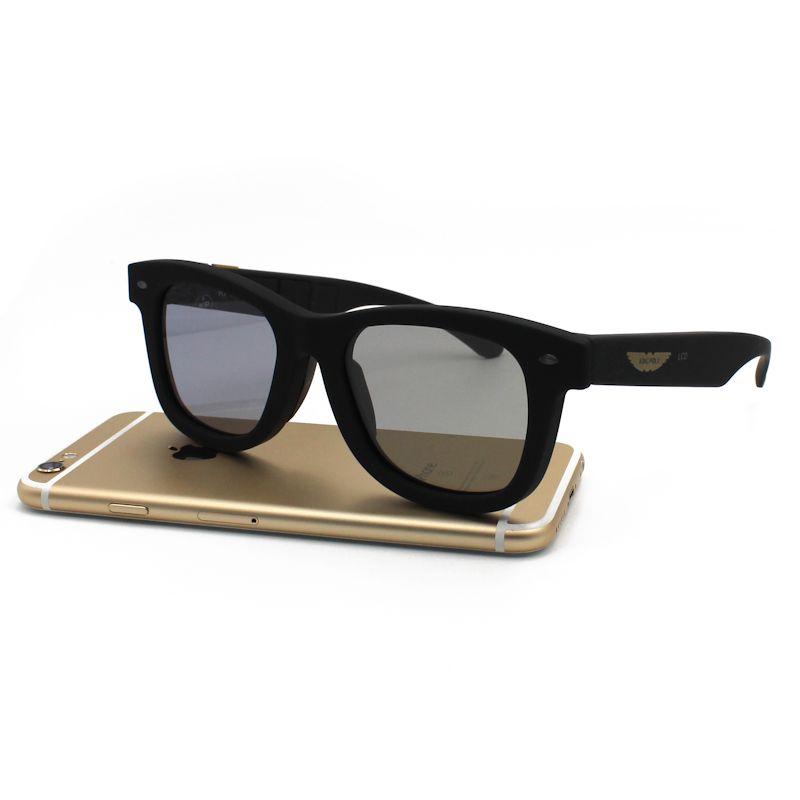 La Vie Original Design Liquid Crystal Sunglasses Auto Adjustable Brightness LCD Polarized Lenses Sun Glasses Vintage Frame LCD04