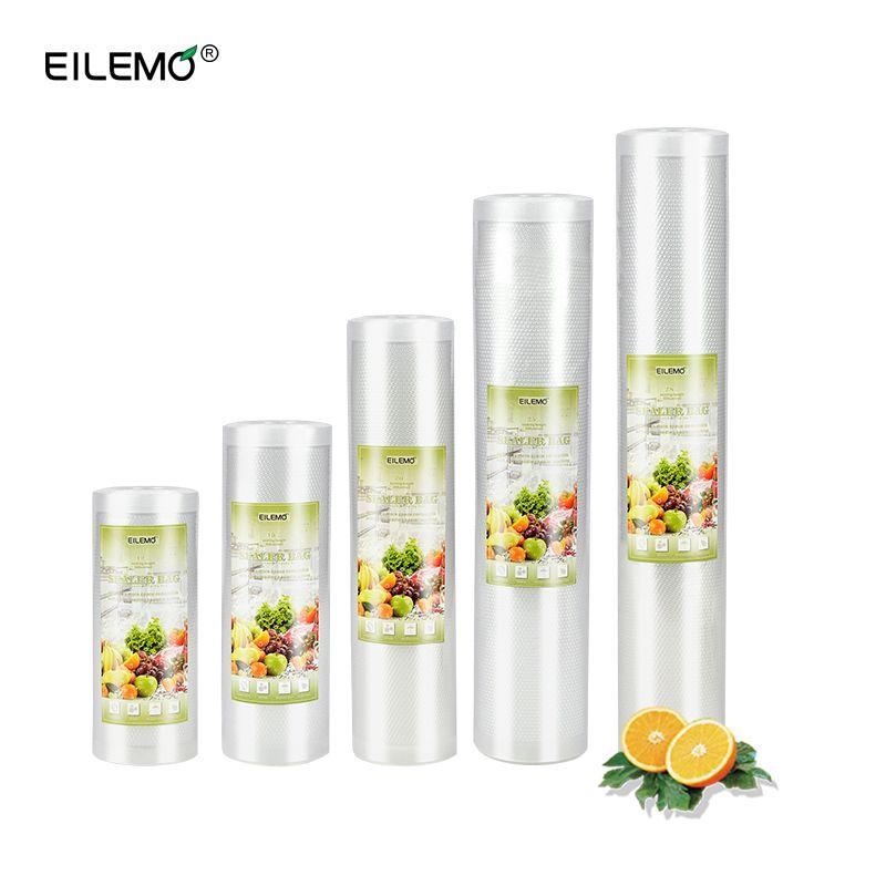 EILEMO Vide Sac Vide Alimentaire Scellant Emballage Sacs Plus De Stockage De Nourriture Packer Emballage Sacs 12 + 15 + 20 + 25 + 28 cm * 500 cm 5 Rouleaux/Lot
