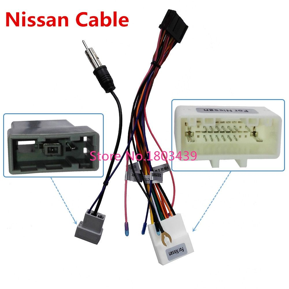 Connector ISO Cable Used in Ownice Brand For Nissan Series Car DVD Multimedia Player Radio System