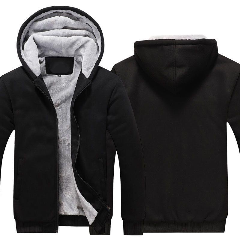 Zipper Hoodies Sweatshirts Jackets Men and Women Winter Thicken Hooded Coat EU US sizes Dropshipping Wholesale New 2018
