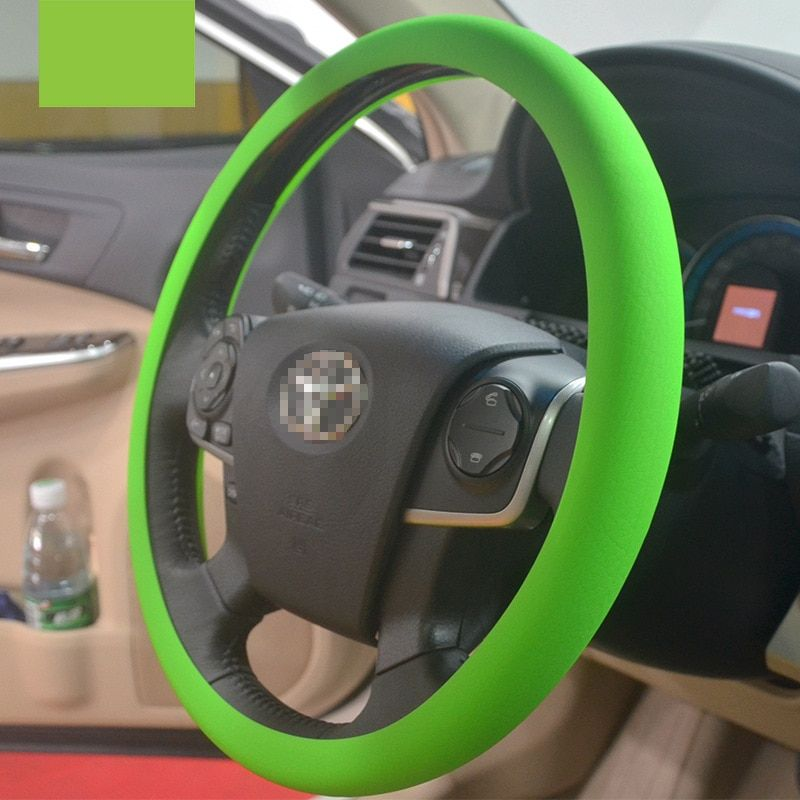 CHIZIYO Fashional Soft Silicone Steering Wheel Cover Shell Skidproof Odorless Eco-Friendly Protector For 36-38cm Steering Wheel