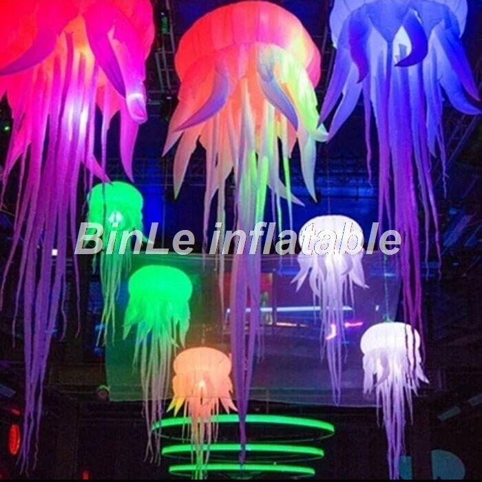 Schöne 2,5 mt led licht aufblasbare quallen party hochzeit bühne dekorative aufblasbare ballon für verkauf