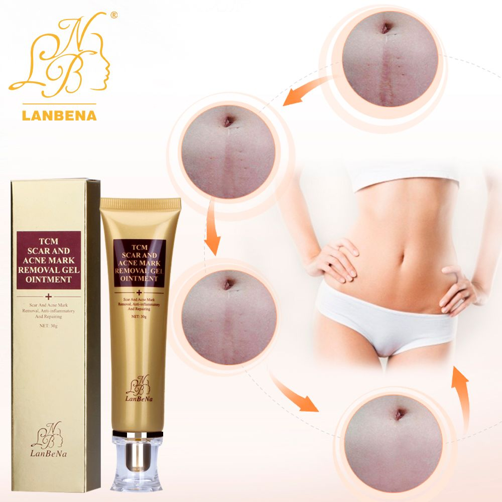 Acne Scar Cream Ginseng Essence Anti Acne Remover Cream Face Care Makeup Spots Stretch Marks Remove Scar Product LANBENA