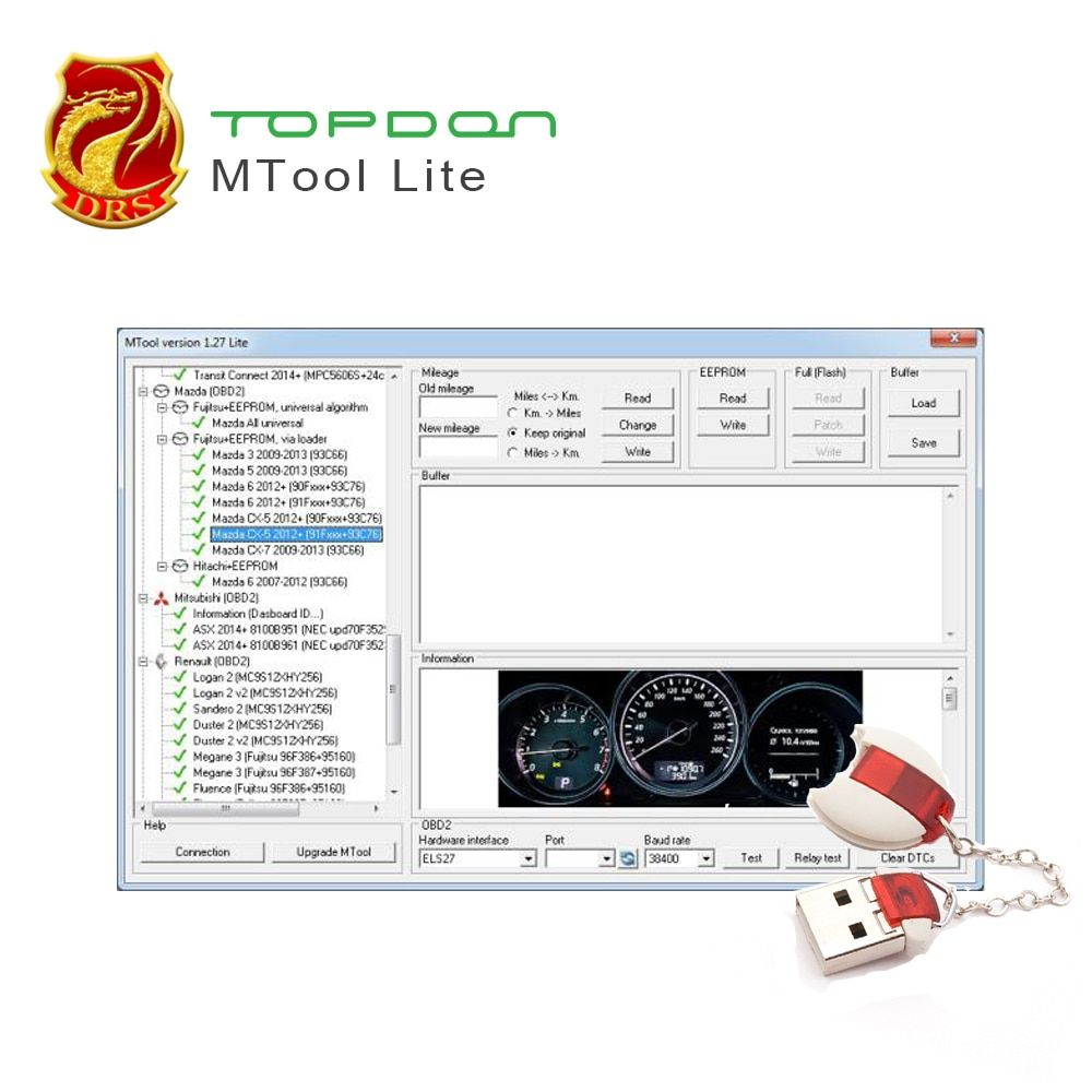Mileage Programmer MTool Use to Adjust the Mileage Change of Cars ODB M-BUS Car Mileage Correction Tool of run