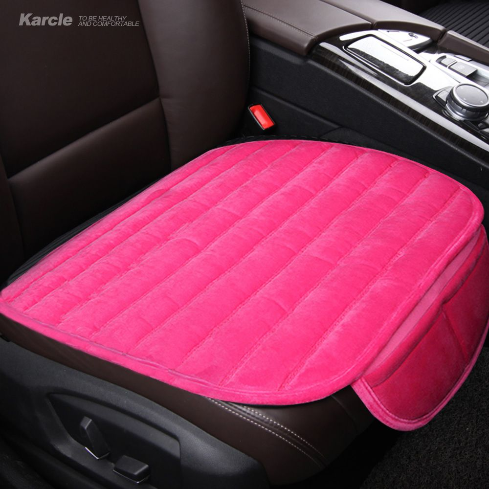Karcle 1PCS Winter Car Seat Covers Warm Velvet Seat Cushion Plush Car Seats Pad Protector Car-Styling Automobiles Accessories