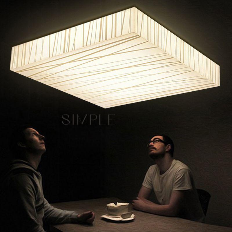 Square LED Ceiling Light Acrylic Ceiling Lamps Home Lighting Modern Abajur AC90-265V 110V 220V Luxury LED Lamps