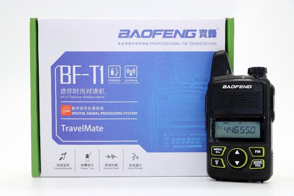 2pcs BAOFENG BF-T1 MINI Two Way Radio UHF 400-470mhz 20CH BF T1 Walkie Talkie Portable Ham CB Radio Handheld Transceiver