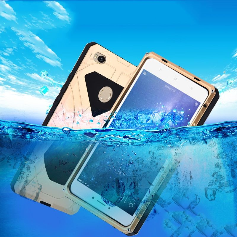Original iMatch Shockproof Case For Xiaomi Mi Max 2 Luxury Daily Waterproof Hard Metal Silicone Case Full Protection Phone Cover