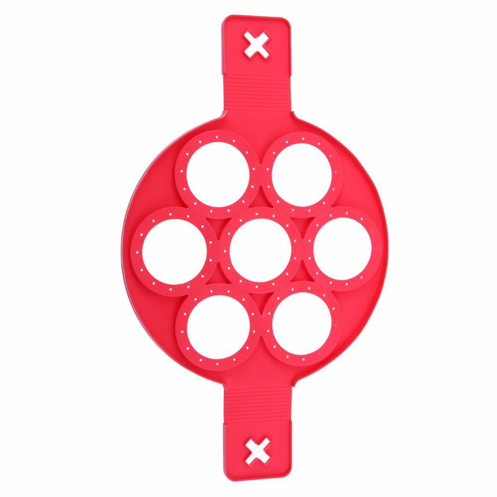 Силиконовые антипригарной блин создатель яйцо кольцо чайник Кухня идеально блины легко флип завтрак омлет Инструменты с 7 отверстий