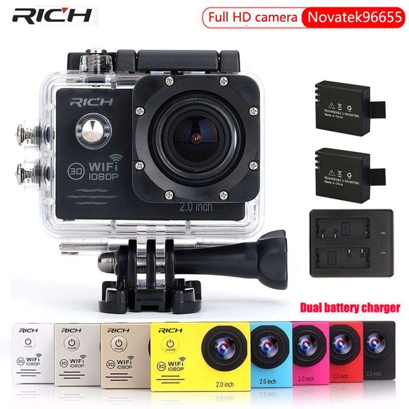 Action Camera Novatek96655 WIFI HD 1080p 30Fps Helmet Head Video go Bike Cams pro Waterproof 30M Sport Camera