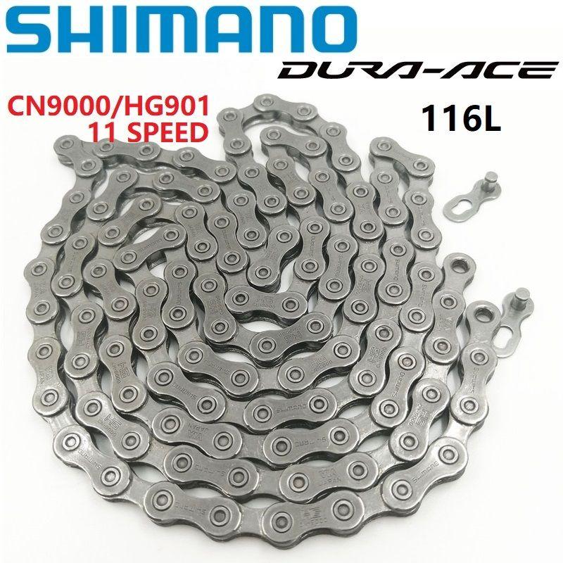 Shimano DURA-ACE CN 9000 HG901 chaîne 116 lien route vélo VTT 11 vitesse chaîne avec lien rapide