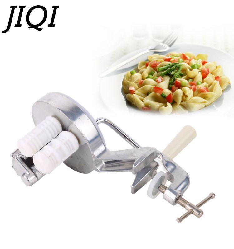 JIQI Italian Noodle Making Machine Spaghetti Pasta Handmade Pressing Maker Manual Handle Fettuccine Cutter Kitchen cooking tools