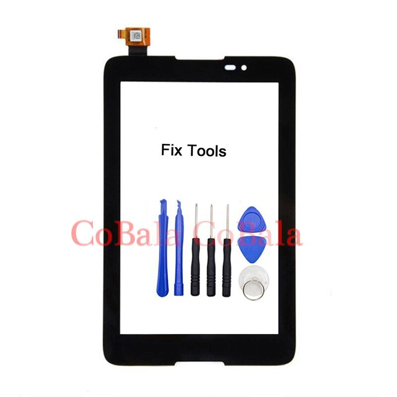 LOVAIN 1Pcs Black For Lenovo A7-50 A3500 Touch Screen Digitizer LCD Outer Panel Front Glass Sensor