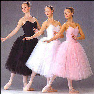 Nouveau Long adulte enfants Ballet Tutu robe partie pratique jupes vêtements mode danse Costumes