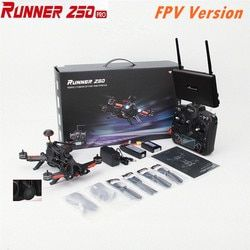 (FPV Version) Walkera Runner 250 PRO + DEVO 7 + 5.8G FPV Monitor GPS RC Racing Drone with Camera+Battery+Charger  RTF