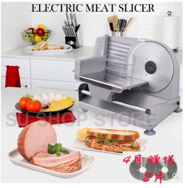 220 v/110 elektrische Slicer Haushalt Lamm scheibe fleisch Scheiben brot Heißer Topf Desktop Fleisch schneiden maschine