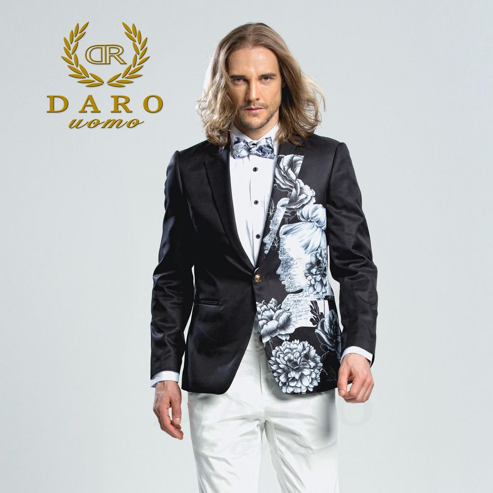 DARO 2018  Men's Printed Blazer casual Slim Fit  Suit Jacket Men Spring Autumn Trend Blazer Fashion Luxury Blazer Hombre DRJ8206