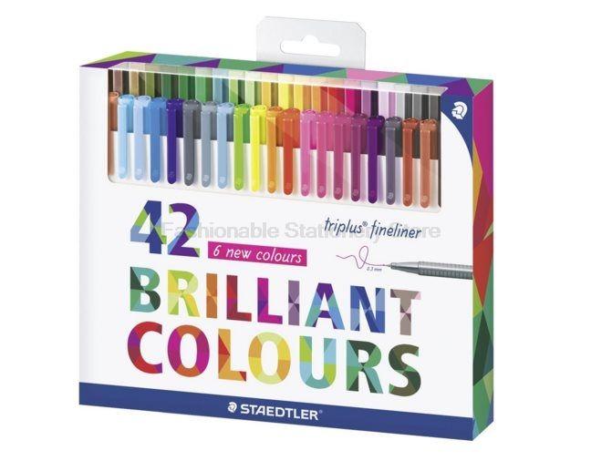 STAEDTLER 334 C42 42 colores 0.3mm Arte Rotuladores para Pintar $ escritura Papelería útiles escolares accesorios de Oficina