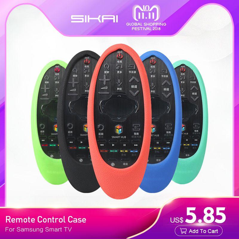 SIKAI 2017 Nouveau Cas En Silicone Souple Pour Samsung Smart TV Télécommande Cas De Protection Peau Pour Samsung TV Télécommande couverture