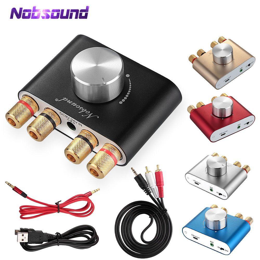 Nobsound F900 Super Mini Bluetooth 5.0 HiFi TPA3116 amplificateur numérique stéréo 2.0 canaux 50W * 2 ampli de puissance