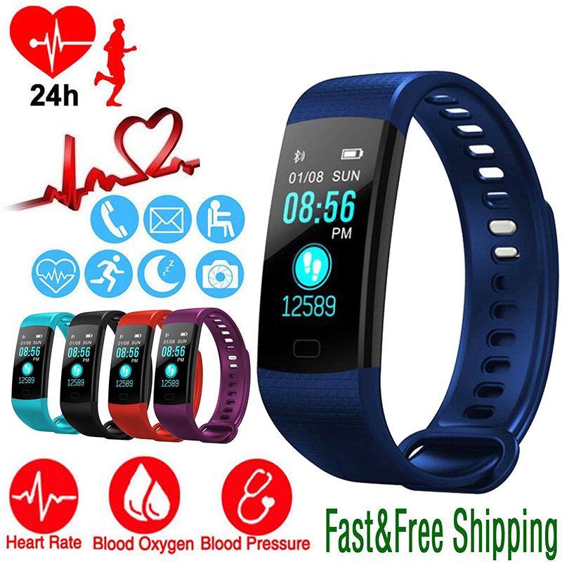 Montre intelligente sport Fitness activité traqueur de fréquence cardiaque bracelet de pression artérielle IP67 étanche podomètre pour IOS Android